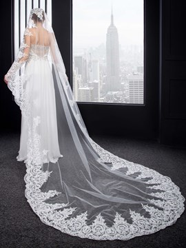 Ericdress Charming Appliques Cathedral Wedding Veil