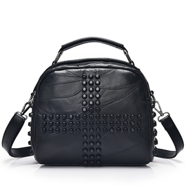 Ericdress Vogue Rivets Decorated Lambskin Crossbody Bag