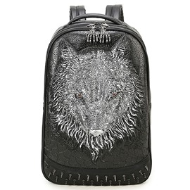 Ericdress Wild Rivets Wolf Men's Backpack