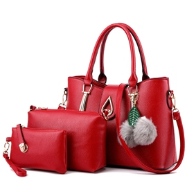 Temperament Stereo Water Drop Lock Handbags(3 Bags)