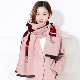 Ericdress Double Sided Lovely Girl Printed Scarf