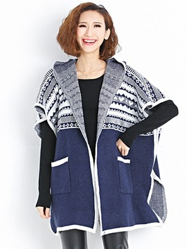 Ericdress Hooded Loose Cardigan Knitwear