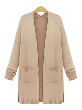 Ericdress Solid Color Wrapped Knitwear