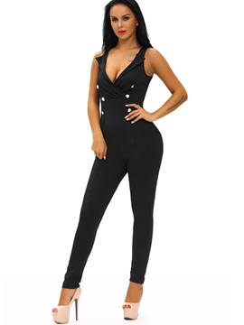 Ericdress Backless Suspenders Skinny Jumpsuits Pants