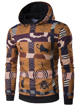 Ericdress Ethnic Style Pattern Hood Pullover Casual Men's Hoodie