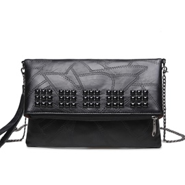 Ericdress Street Rivets Chain Decorated Shoulder Bag