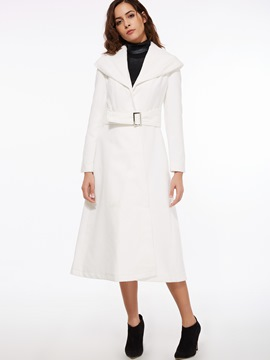 Ericdress Big Lapel Slim Coat