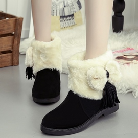 Ericdress Lovely Bowknot Tassels Snow Boots