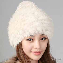 Ericdress Furry Rabbit Hair Warm Hat for Women