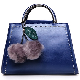Ericdress Graceful Fuzzy Ball Decorated Handbag