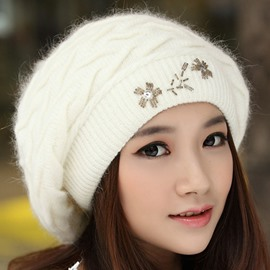 Ericdress Double Layers Brimless Women's Knitted Hat