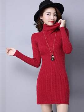 Ericdress Turtle Neck Bodycorn Knitwear