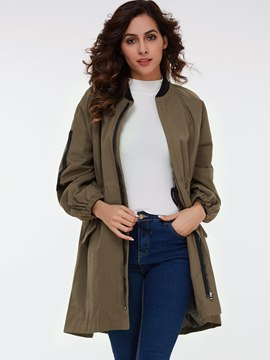 Ericdress Loose Zipper European Jacket