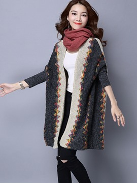 Ericdress Color Block Loose Wrapped Knitwear