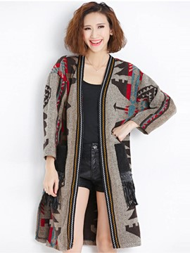 Ercdress Color Block Womens Cardigan Knitwear