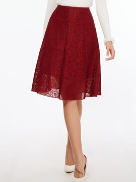 Ericdress Floral Print Knee-Length Usual Skirt