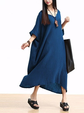 Ericdress Mori Girl V-Neck Loose Half Sleeve Casual Dress