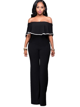 Ericdress Falbala Backless Loose Jumpsuits Pants