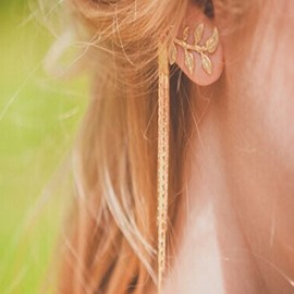 Ericdress Simple Leaves Design Ear Cuff