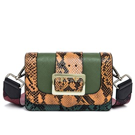Ericdress Versatile Serpentine Patchwork Crossbody Bag