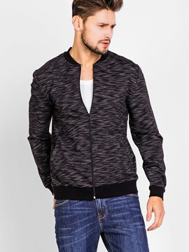 Ericdress Zip Slim Muscle Jersey Vogue Casual Men's Jacket