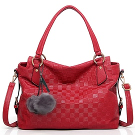 Ericdress Soft Plaid Embossed Handbag