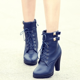 Ericdress Unique Platform Lace up High Heel Boots