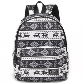 Ericdress Snowflake Print Backpack