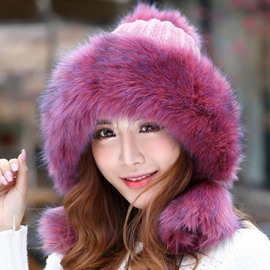 Ericdress Fluffy Brim Pure Color Women's Hat