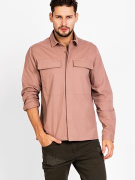 Ericdress Pink Loose Casual Long Sleeve Men's Shirt