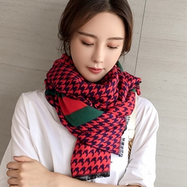 Ericdress Houndstooth Thicken Long Women's Scarf