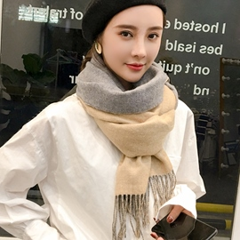 Ericdress Double Colors Thicken Women's Scarf