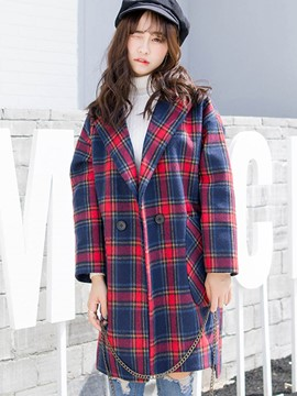 Ericdress Loose Pliad Coat