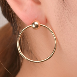 Ericdress Simple Copper Circle Design Earrings