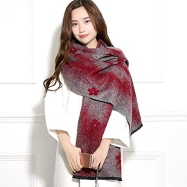 Ericdress Plum Embellished Fluffy Warm Scarf