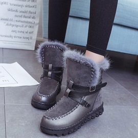 Ericdress Lovely Girl Patchwork Snow Boots