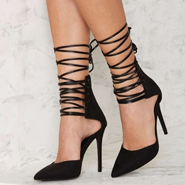 Ericdress Pointed Toe Cross Strap Stiletto Sandals