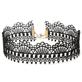 Ericdress Black Lace Vintage Style Choker Necklace