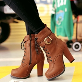 Ericdress Cool Platform Lace up Martin Boots
