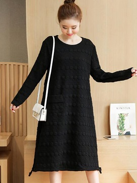 Ericdress Embossing Pocket Split Casual Dress