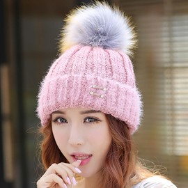 Ericdress Pom-Pom Decorated Solid Color Women's Hat