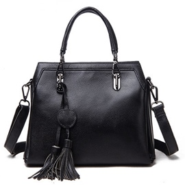 Ericdress Multi-Layer Tassel Cowhide Handbag
