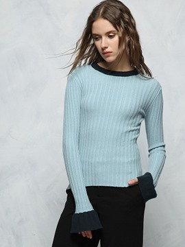Ericdress Slim Plain Knitwear