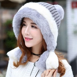 Ericdress Multicolor Thicken Earmuffs Women's Knitted Hat