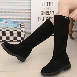 Ericdress Brush Off Flat Knee High Boots