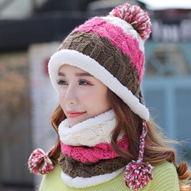 Ericdress Warm Winter Knitted Hat & Neck Warmer