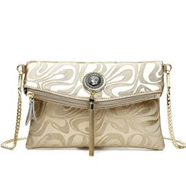 Ericdress Irregular Embossed Cowhide Shoulder Bag