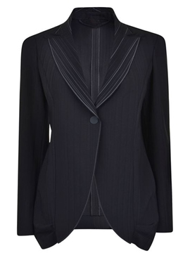 Ericdress Turn Down One-Button Slim Blazer