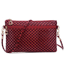 Ericdress Embossed Patent Leather Crossbody Bag