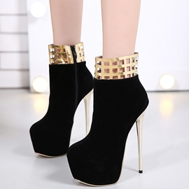 Ericdress Suede Platform Sequins Decorated High Heel Boots